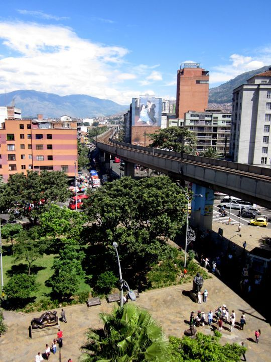 Plaza Botero - view from Palace of Culture - Popular Tourist Attractions in central Medellin Colombia - City of Eternal Spring - SoloTripsAndTips.com