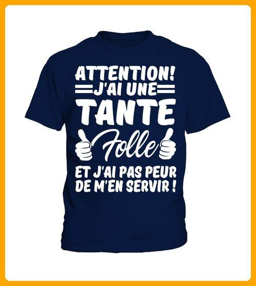 ATTENTION JAI UNE TANTE FOLLE ET JAI PAS PEUR DE MEN SERVIR  - Shirts für neffen und nichten (*Partner-Link)