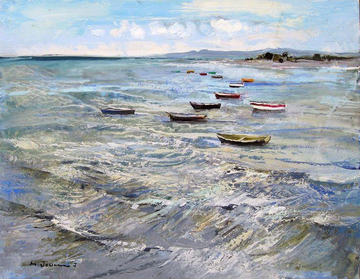 Michel Jouenne - le repos des bateaux