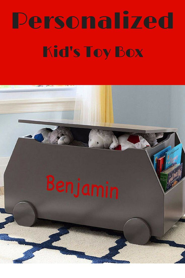 Personalized Toy Box to help store all those roaming toys in a chic way