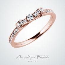 アンジェリック フォセッテ ブライダル:試着人気NO1♪婚約指輪と結婚指輪兼用で考えている方へもおすすめ!