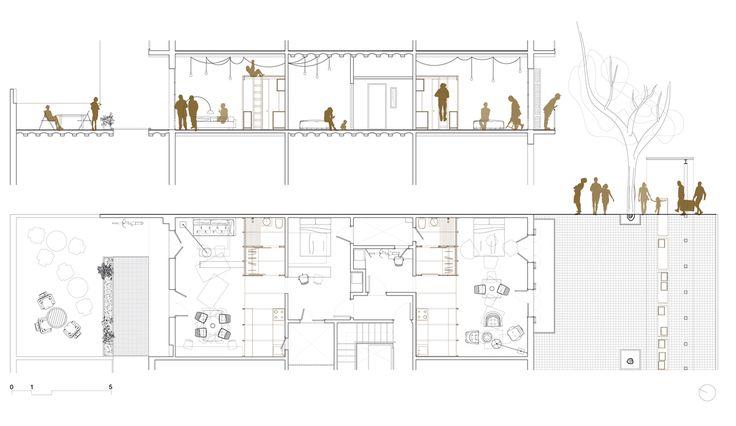 Carles Enrich | Arquitectura + Urbanisme. Tamarit drawing.