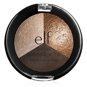 Three gorgeously coordinated colors come together to create a stunning look. Baked in an oven, these eyeshadows offer rich pigmentation for a beautiful effect. (just $4) #elfcosmetics #playbeautifully