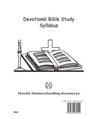 Grade /9-12/...Devotional Bible Study Syllabus. Students