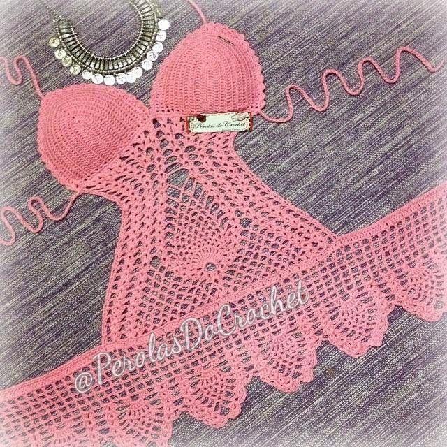 * Pérolas do Crochet: Thaiane Souza Veste Pérolas do Crochet