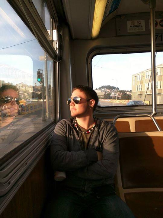 Riding the MUNI in SF  #FTM #transman #AidenWarrior #thisiswhattranslookslike #twospirit #Twospiritpride #transamerica #F2M #Transgender