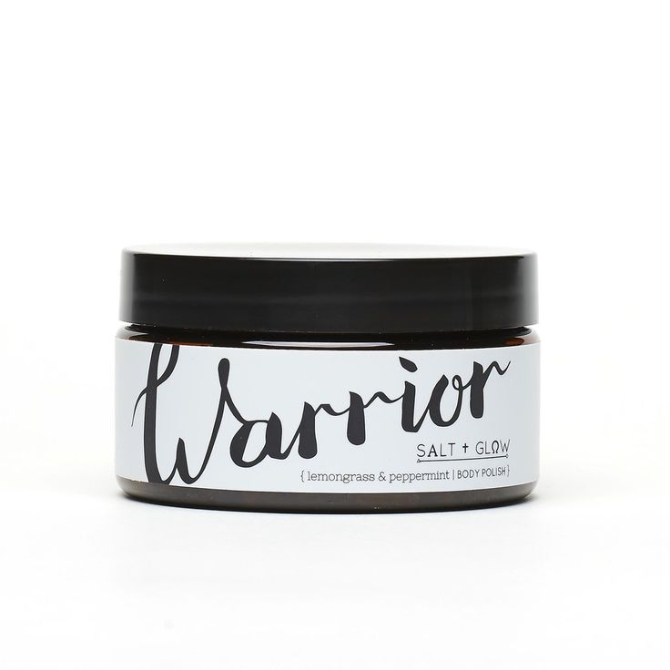 $22 USD Warrior Body Polish by Salt + Glow. Energizing scent of lemongrass and peppermint helps you warrior through the day.