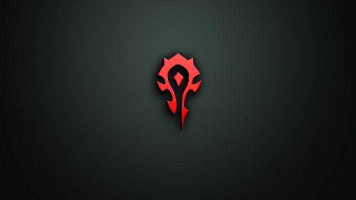 World Of Warcraft Horde Minimalism Video Games Wallpaper Red And Black Wallpaper Minimalist Wallpaper Warcraft