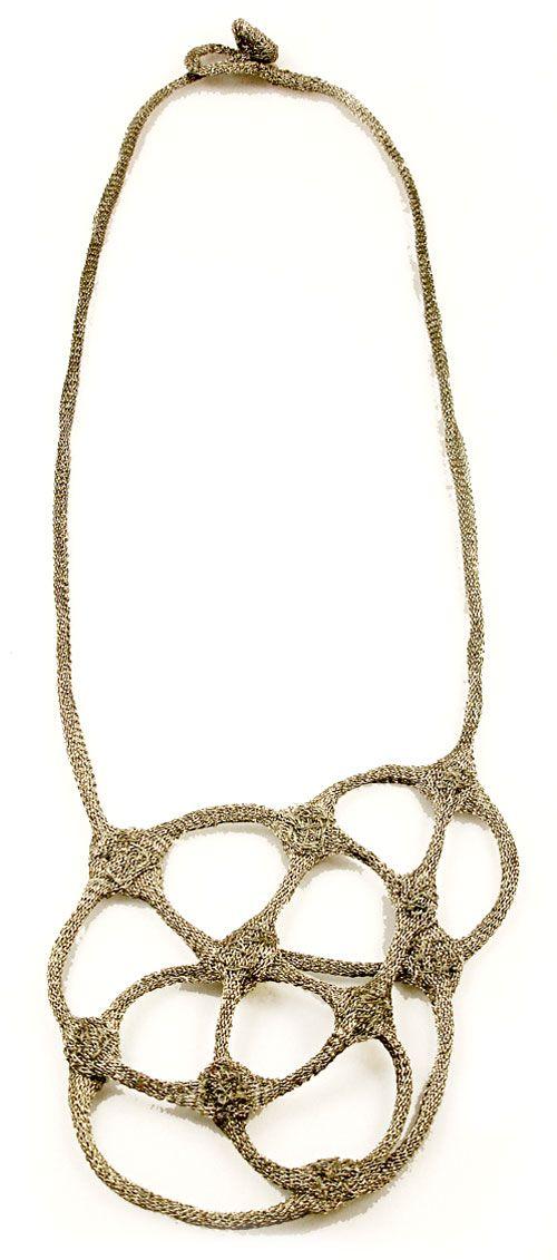 Ela Bauer Necklace: Untitled 2008 Coated copper-net