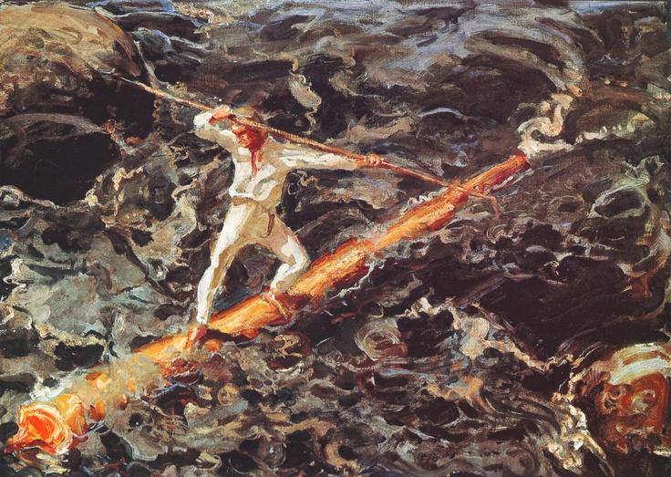 Akseli Gallen-Kallela the log floater