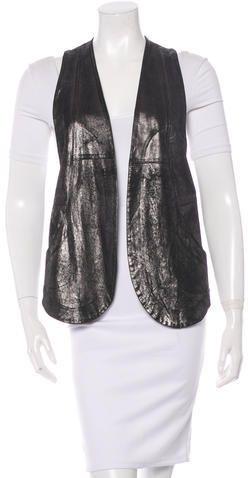 Ian R.N. Burnished Leather Vest