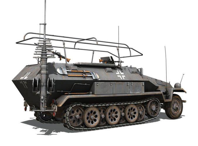 SD KFZ 251 3 IV Ausf A - Radio commande et ...