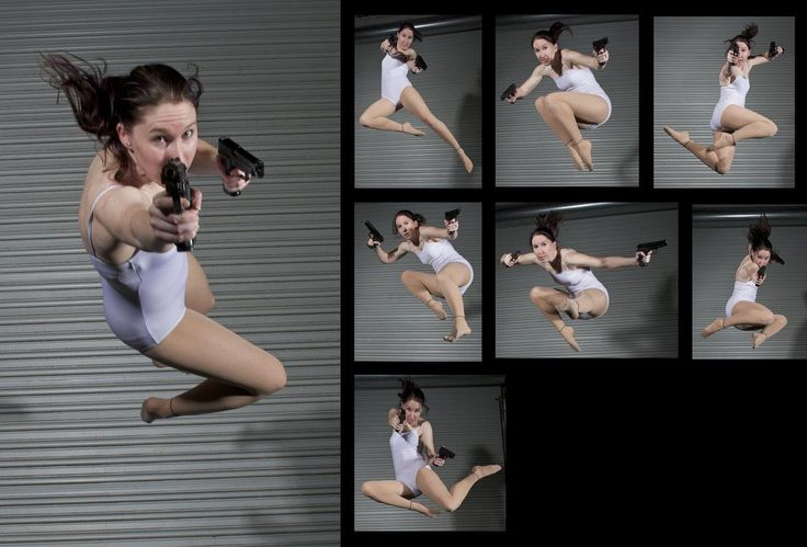 Female Gun Pack 2 - Drawing Reference by SenshiStock on deviantART