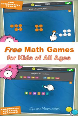 Free math games for kids of all ages #kidsapps #MathApps #FreeApps