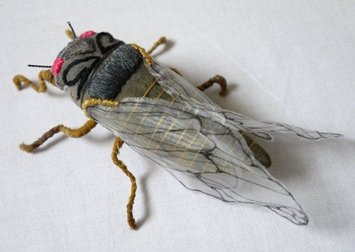art sculpture crafts butterfly moth insects textiles soft sculpture Yumi Okita