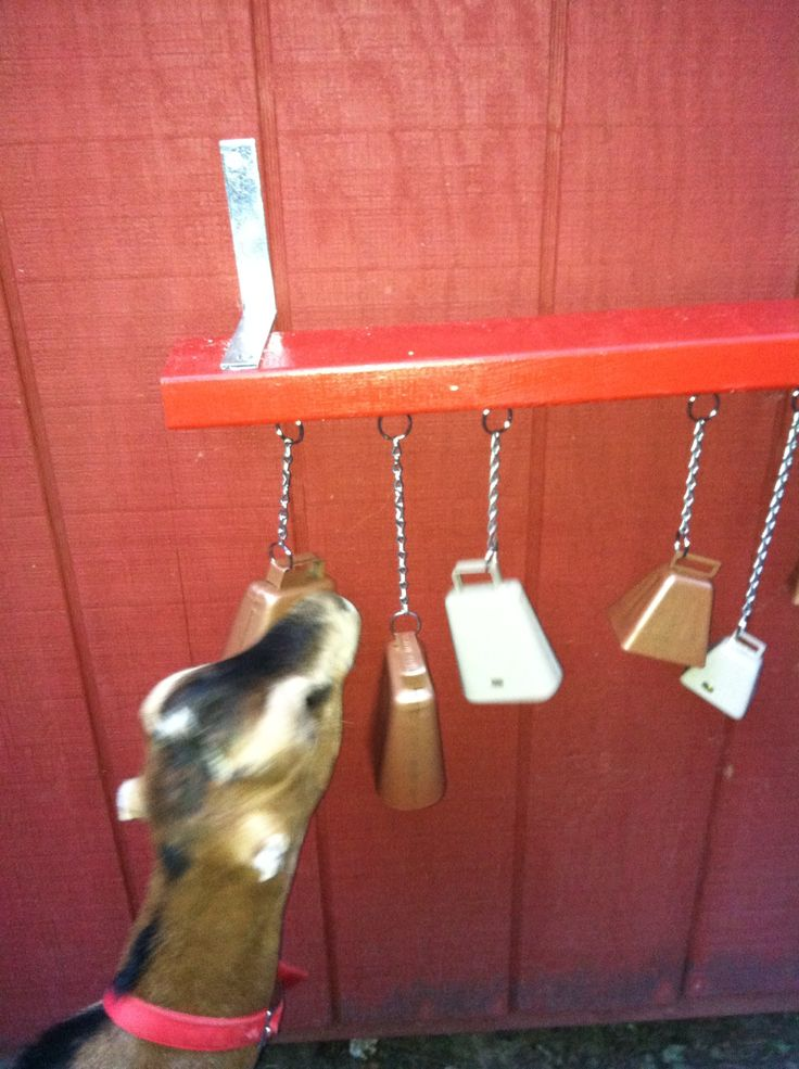 From another pinner: ''Playing with his homemade cow bell toys'