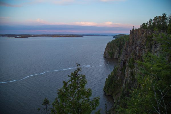 Devi's Rock View over Lake Temiskaming.  Enjoy a local food picnic on top of Devil's Rock during your tour.