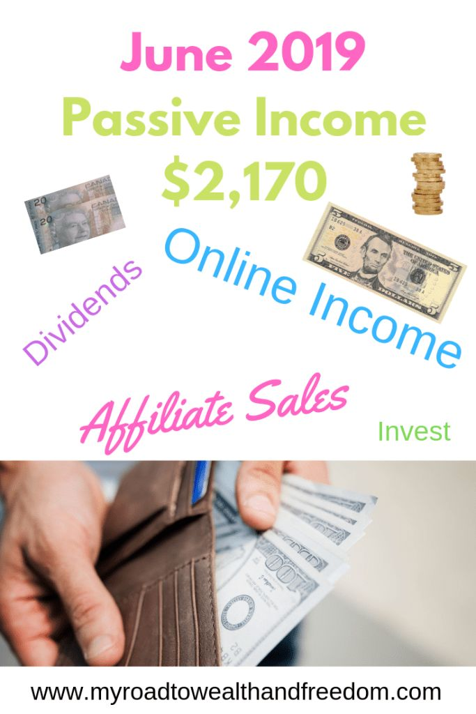 June 2019 Passive Income $2,170