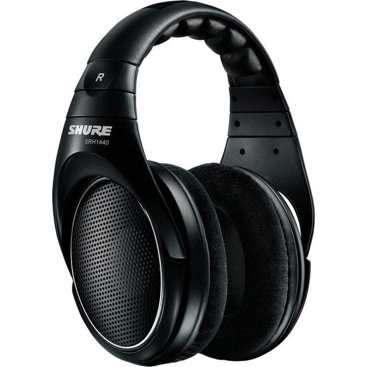 Shure SRH1440 Professional Open Back Headphones | Black SRH140