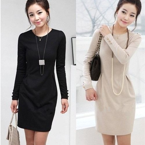 Find More Dresses Information about Free Shipping New Spring Winter 2014 Casual Dress Female Fashion Black Beige Color Career Lady Winter Dress Women's Dress MYB18,High Quality ladies winter dress,China woman dresses Suppliers, Cheap women fashion dress from MYB Clothing on Aliexpress.com