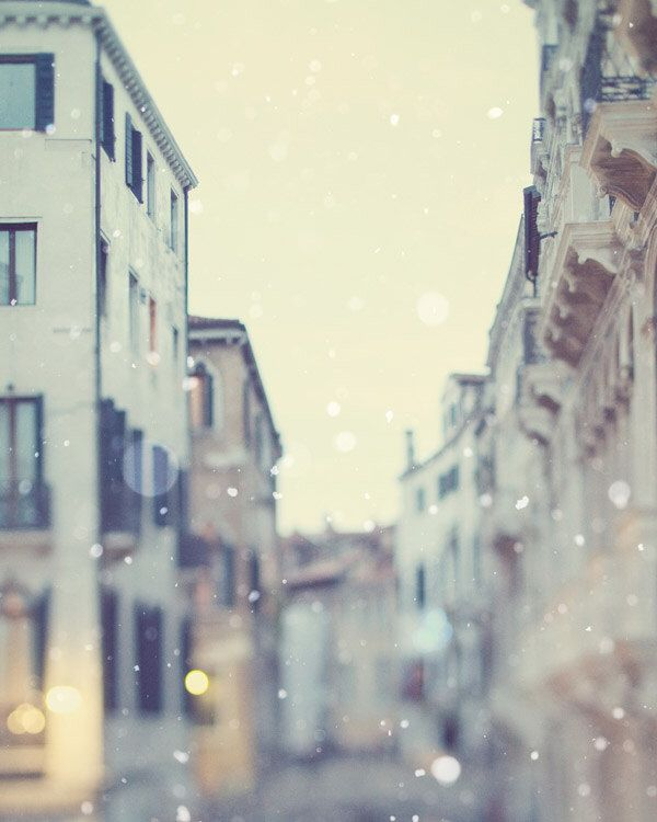 Venice Photography, Venice Wall Art, Italy Art Print, Winter Snow, Romantic Fine Art Photography, Wall Decor, Large Print - Sotto Voce by EyePoetryPhotography on Etsy https://www.etsy.com/listing/90845199/venice-photography-venice-wall-art-italy