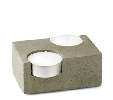 Concrete can be molded to become anything you can craft with your imagination and a mold to match it. This tea candle cozy is a prime example.