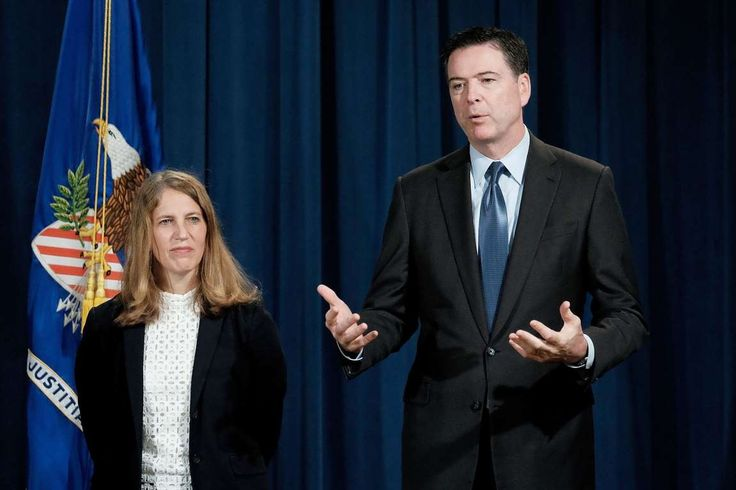 Former FBI director James Comey: A look at his career  -  June 8, 2017  -       Comey speaks alongside Health and Human Services Secretary  Sylvia Mathews Burwell about a national effort to crack down on  Medicare fraud during a press conference at the Department of  Justice on June 18, 2015, in Washington.