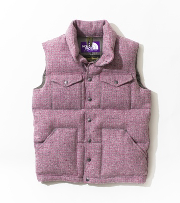 THE NORTH FACE PURPLE LABEL Harris Tweed Short Sierra Vest