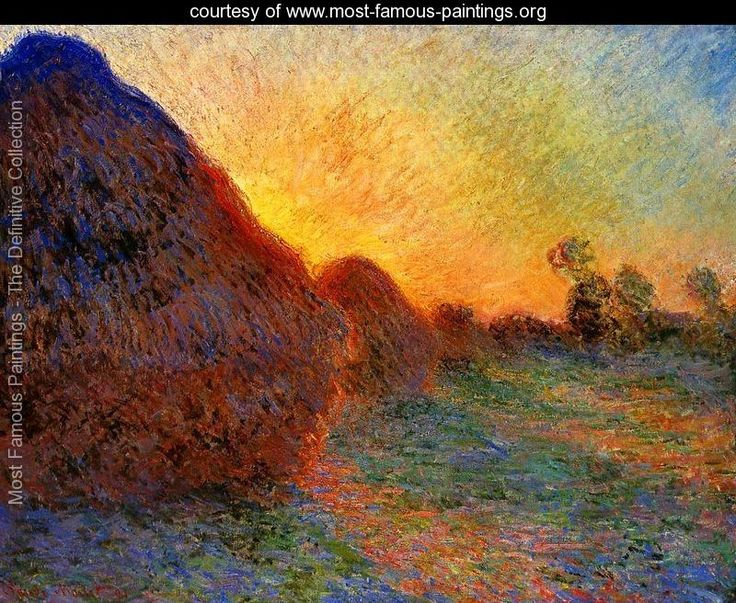 art critique grainstacks by claude monet Interpretive resource  richard post-impressionists chicago: the art institute of  1891, an exhibition of recent works by claude monet opened at.
