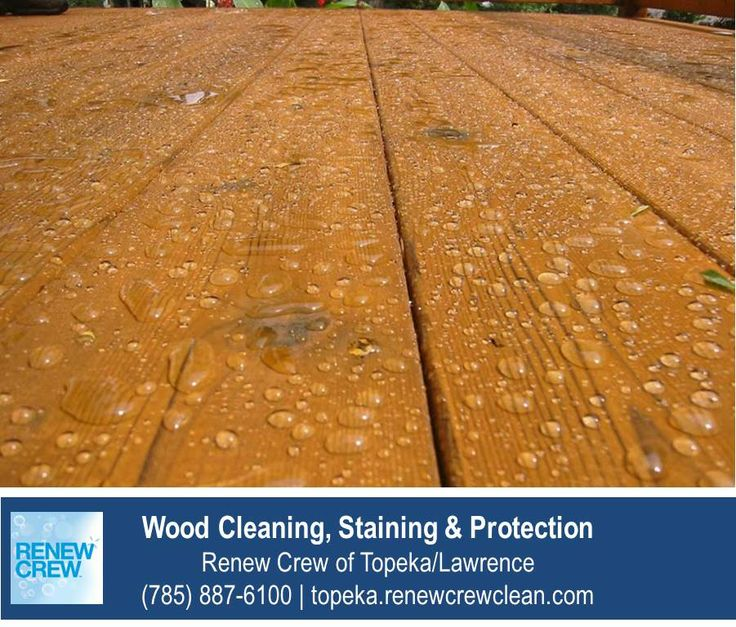 http://topeka.renewcrewclean.com/deck-cleaning – Water beading on wood that has been cleaned, sealed and protected by Renew Crew of Topeka/Lawrence. We serve Topeka plus Lawrence KS. Free estimates.