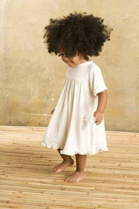 baby with curly hair