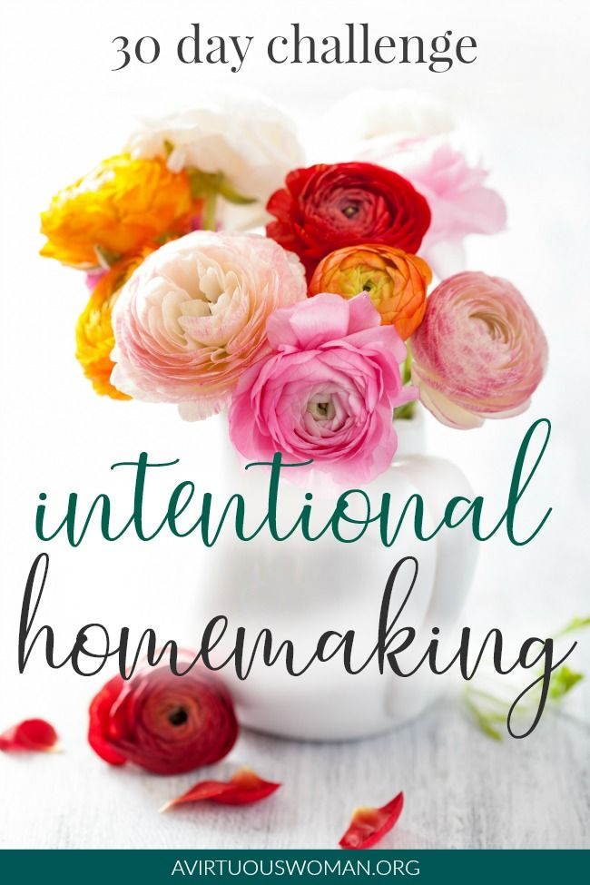 Intentional Homemaking 30 Day Challenge