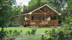 Exterior Rendering | Baywood | Login for pricing | What's Included 3 Beds, 1 bath, 936 sq ft 26′-0″w x 46′-0″d | Family size tiny home cottage