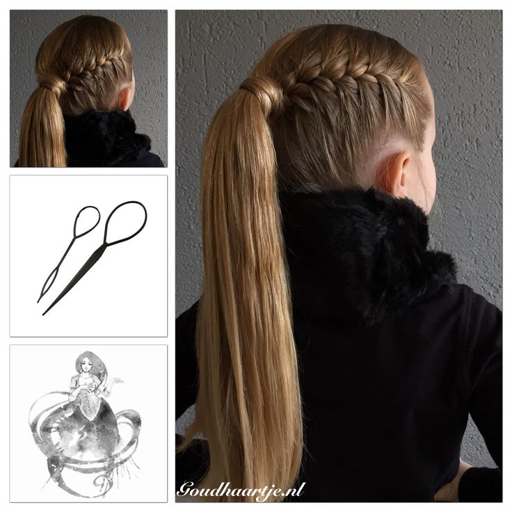 Simple hairstyle, french braid into a ponytail. The elastic is covered with hair, done with the Topsy Tail from Goudhaartje.nl #ponytail #coolhair #hair #hairstyle #blonde #blondehair #longhair #longhairdontcare #beautifulhair #topsytail #hairaccessories #braid #braids #frenchbraid #hairinspiration #hairideas #braidinspiration #braidideas #haar #haarstijl #vlecht #vlechten #staart #haaraccessoires #goudhaartje