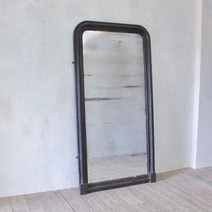Large 19th Century Ebonised Dressing Mirror