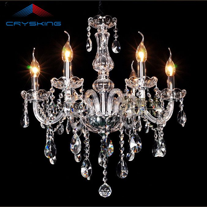6 Arms Home Crystal Chandelier Modern Lustres de Cristal Living Room Indoor Lamp Decoration - ICON2 Luxury Designer Fixures  6 #Arms #Home #Crystal #Chandelier #Modern #Lustres #de #Cristal #Living #Room #Indoor #Lamp #Decoration