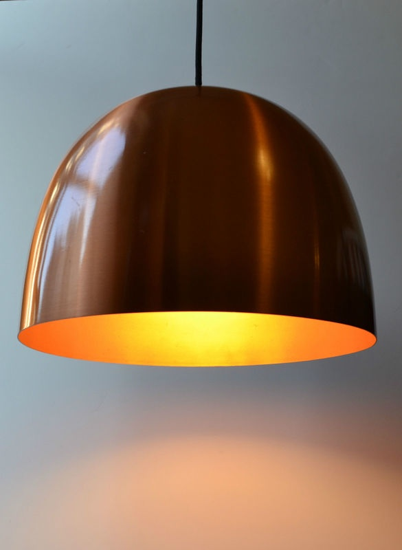 Vintage Pient Hein Copper Danish Pendant Light . . . I think this would be perfect above the pool table in the game room or possible in the library