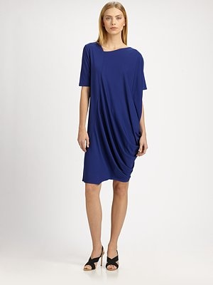 Zero + Maria Cornejo - Asymmetrical Jersey Dress - Saks.com - great hiding post birth