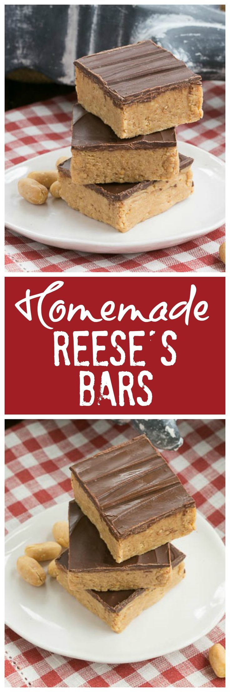Homemade Reese's Bars | All the magnificent flavors of a Reese's peanut butter cup in a no-bake bar