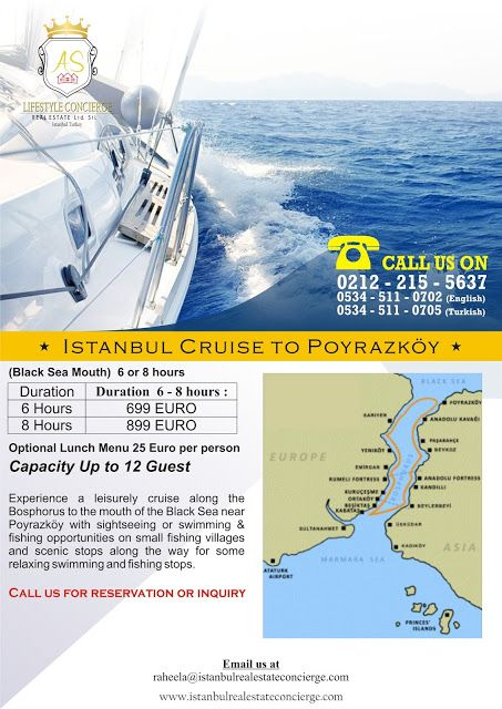 AS Lifestyle Concierge and Real Estate Services Ltd. Sti.: Istanbul Cruise to Poyrazköy (Black Sea Mouth)