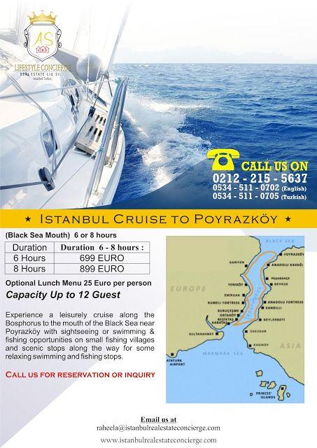 AS Lifestyle Concierge and Real Estate Services Ltd. Sti.: Istanbul Cruise to Poyrazköy (Black Sea Mouth)
