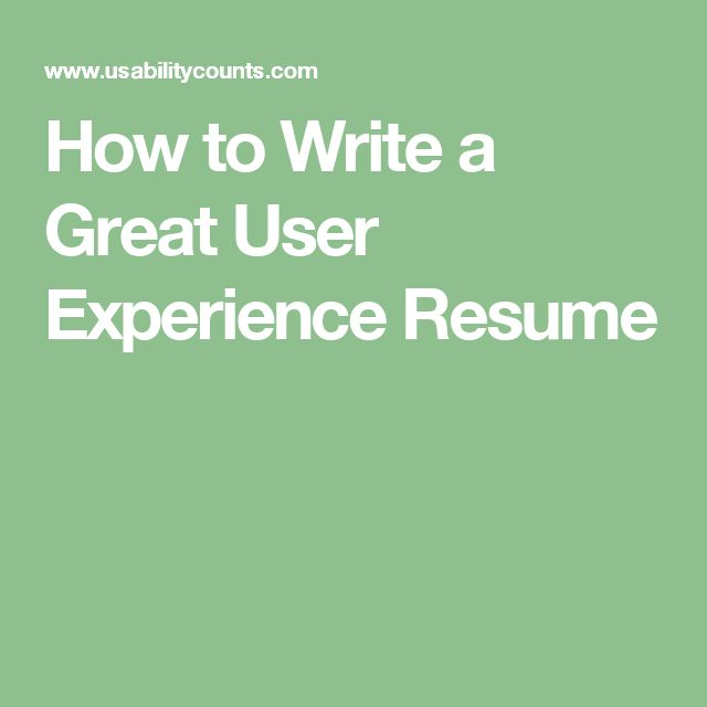 11 best UX Resumes images on Pinterest Resume, Curriculum and Ux