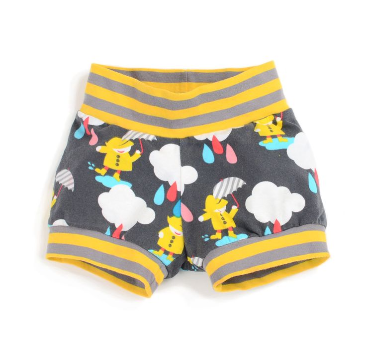 Sewing pattern for baby and toddler cuff shorts