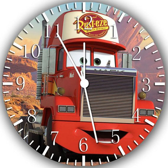 New Disney Cars Mack wall Clock 10 will be nice by Melissaclocks, $12.99