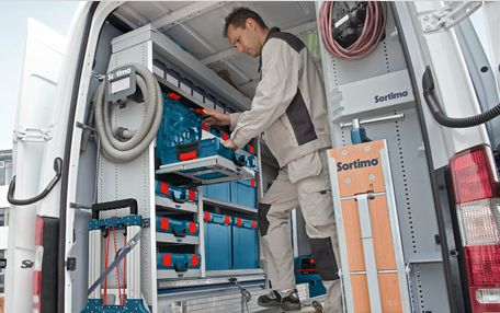 Indoor Vehicle Storage >> Bosch Pro L-BOXX system + Sortimo in-vehicle storage ...
