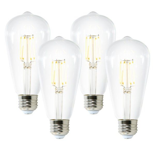 Light Society Aquella St21 Shape Led Filament Light Bulb Set Of 4 Led Light Bulbs In 2019 Light Bulb Bulb Lighting