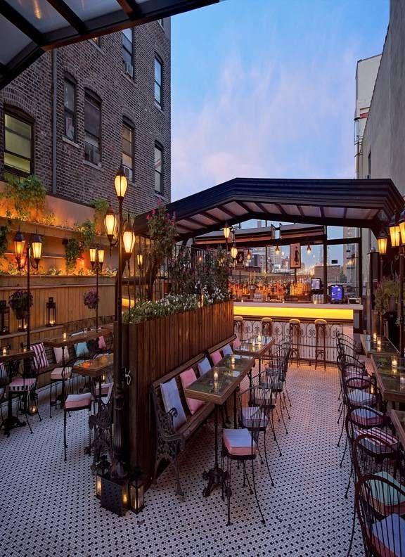 Hotel Chantelle near the Manhattan bridge. .95 cent cocktails on the rooftop bar, kwahhhh?!?