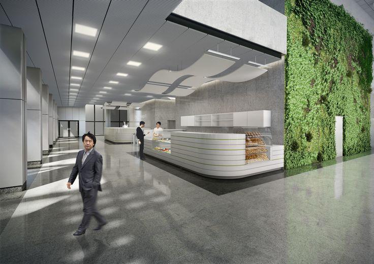 Hole wejściowe w biurowcu - projekt / Entrance halls in an office building - project