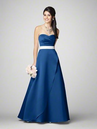 Alfred Angelo bridesmaid dress style 7205 in Mediterranean Blue. For the made of honor. she needs to look stunning.