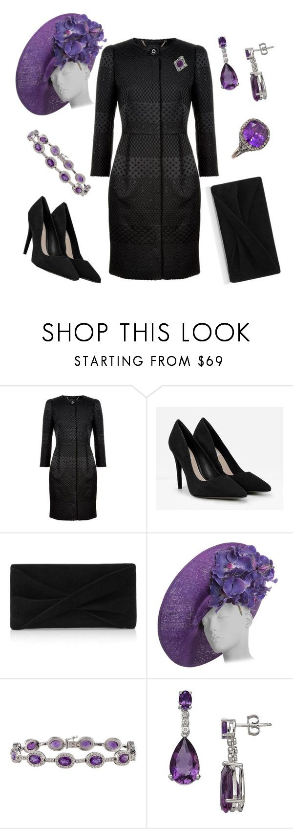 """""""Statement Hat"""" by nmccullough ❤ liked on Polyvore featuring Ted Baker, CHARLES & KEITH, Reiss, Philip Treacy and Lord & Taylor"""